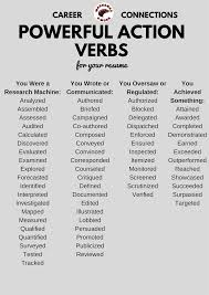 powerful action verbs for a resume ulm university of louisiana action verbs
