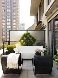 black white condo balcony a builder basic condo divider calls for some greenery patio furniture for small patios