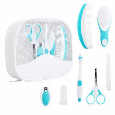 13pcs set newborn baby healthcare kit thermometer brush scissors hair nail care kid health care set grooming sets