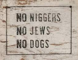 Image result for 1950s white racist signs