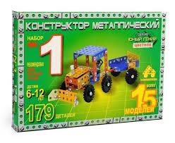 Металлический цветной <b>конструктор Самоделкин Юный</b> гений №1