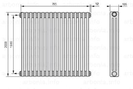 <b>Радиатор ARBONIA 3200</b>/17 №12 цвет <b>сталь</b> под лаком (TF ...