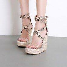 <b>Summer</b> Wedges Shoes For Women Serpentine Cross-Strap ...