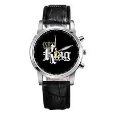 <b>New King Queen Leather</b> Watches Women Lovers Quartz Watch ...
