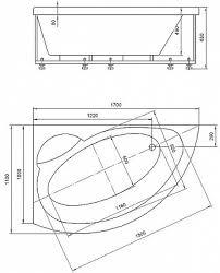 <b>Ванна акриловая Акватек Аякс</b>-2 170х110 гидромассаж ...