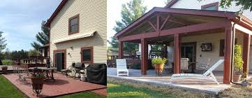 covered patio freedom properties: pataskala oh before and after covered porch