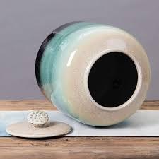 Food Jars & Crocks <b>Rice Storage</b> Bucket <b>Large</b>-<b>capacity</b> Ceramic ...