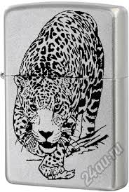 <b>Зажигалка ZIPPO</b> (Зиппо США) <b>205 Leopard</b> Satin Chrome ...