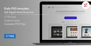Eiefy: PSD Template for Selling Themes & Services by azyrusmax ...