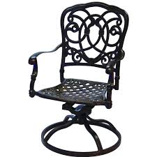 extension table f: darlee florence patio swivel rocker dining chair