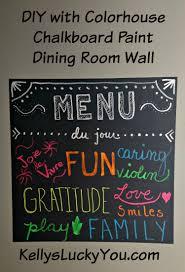 colorhouse chalkboard paint diy menu du jour kellysluckyyou chalkboard paint office
