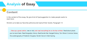 essay analysis no time to read by david mccullough  analysis of essay content