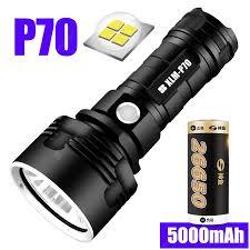 Super Powerful LED Flashlight L2 XHP50 Tactical Torch USB ...