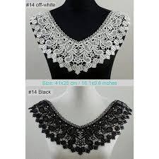 White <b>Vintage Flower</b> DIY Lace Trim Collar Sewing Craft Neckline ...