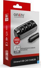 <b>Ginzzu</b> GA-4430UB, Black автомобильное <b>зарядное устройство</b> ...