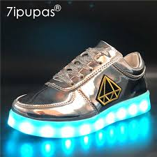 7ipupas 30 44 <b>Fashion child luminous Shoes</b> embroidered stickers ...