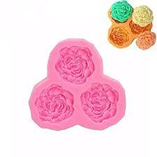 Buy <b>Big</b> Bazaar Bazaar <b>3D Silicone</b> 3 <b>Rose</b> Flowers Fondant Cake ...