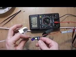 простой ремонт светодиодного светильника - YouTube