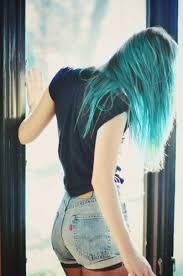 Resultado de imagen de pelo verde tumblr