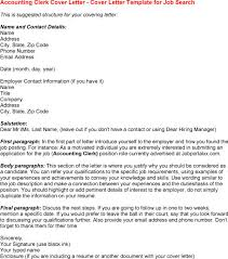 cover letter for clerk position account clerk cover letter