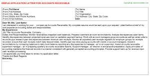 accounts receivable dispute analyst application letters accounts receivable analyst cover letter