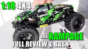 HBX 18859E RAMPAGE <b>1:18</b> Scale 4x4 Mini Monster Review ...