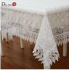 <b>Europe</b> Style Embroidered Mulit Size <b>Tablecloth Lace</b> Rectangle ...