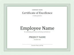 certificate of excellency for worker certificate templates certificate of excellency for worker green