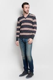 Джемпер мужской Basic. А600090314, цвет: светло-коричневый ...