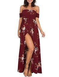Buy DishyKooker <b>Elegant Women</b> Floral Printed Beach <b>Dress Sexy</b> ...