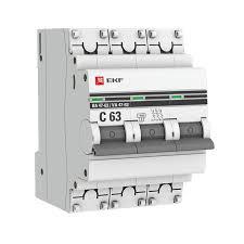 <b>Автоматический выключатель EKF PROxima</b>, модульный, 3п D ...