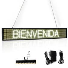 <b>82CM</b> EU White P5 <b>SMD</b> Led Sign Programmable Scrolling ...