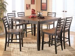 size dining room contemporary counter: astounding dark brown color furnitures of contemporary dining room sets with square wooden table coupled with
