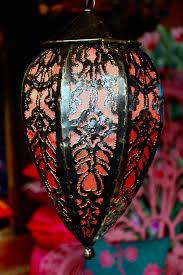 bohemian teardrop lamp hanging moroccan lantern lighting home decor handmade bohemian lighting