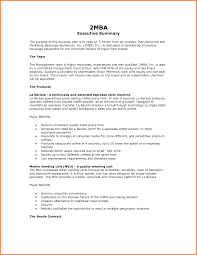 example executive summary format resume template sample mba by it