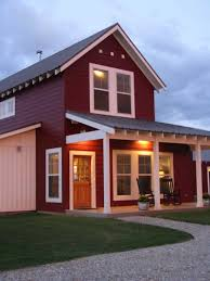 Home  amp  Apartment  A Unique Red Private Pole Barn House With Roof    Home  amp  Apartment  A Unique Red Private Pole Barn House With Roof Castle Look Like And Metal Siding And Wood Front Door Two Red Metal Garage Doors