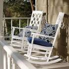 White rocking chair outdoor