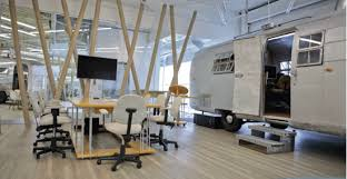 vintage airstream trailers inspire new office space advertising office space