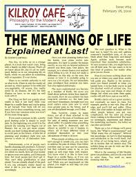 bad words kilroy caf  quotthe meaning of life explained at lastquot here is the latest kilroy caf philosophy essay you can click on the image above for a larger version or print it out on a single page via the pdf file
