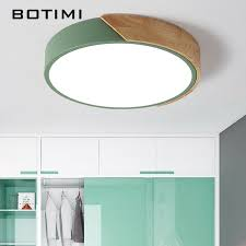 <b>BOTIMI</b> 220V <b>LED Ceiling</b> Lights Nordic Style <b>Round Ceiling</b> ...