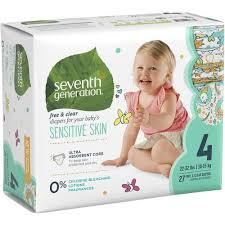 Google Express - Seventh Generation <b>Diapers</b>, <b>Free & Clear</b>, Size 4 ...