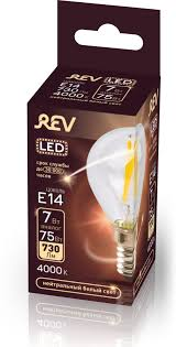 <b>Лампочка REV Deco Premium</b> Filament G45, Холодный свет 7 Вт ...