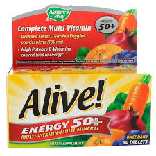 Nature's Way, <b>Alive</b>!, <b>Energy 50</b>+, <b>Multivitamin</b>-<b>Multimineral</b>, For ...