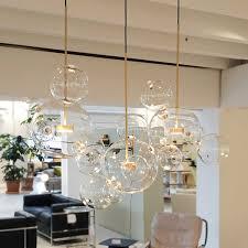 2019 <b>Clear Glass Ball Living</b> Room Chandeliers Art Deco Bubble ...