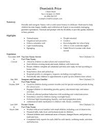nanny job description best resume  seangarrette conanny