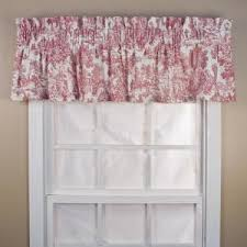 Ellis Curtain Victoria Park Toile 12 in. L Cotton <b>Tailored</b> Valance in ...