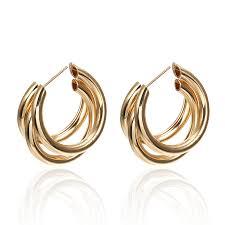 <b>2019 New</b> Ring Earrings Female Geometric <b>Bohemian</b> Multi storey ...