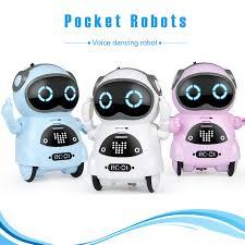 Pocket Robot Mini Robot Toys Gift Talking Interactive Dialogue ...