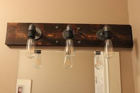 diy industrial bathroom light fixtures above mirror lighting bathrooms