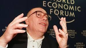 Le secrétaire général de Force ouvrière Marc Blondel lors de sa venue au Forum de Davos en 1999. [Patrick Aviolat - Keystone] - 5696618